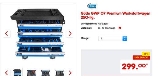 Güde GWP 07 Premium Werkstattwagen 250-tlg. - jetzt 9% billiger