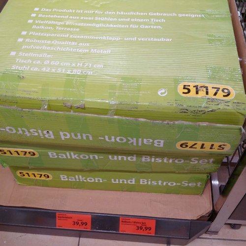 GARDENLINE Balkon - / Bistro Set - jetzt 20% billiger