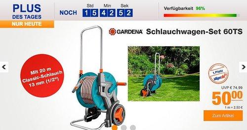 Gardena 08001-20 Schlauchwagen-Set 60TS - jetzt 15% billiger