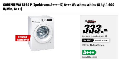 GORENJE WA 8564 P, 8 kg Waschmaschine - jetzt 16% billiger