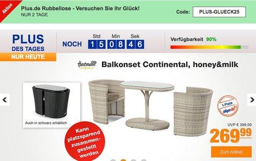 Hartman Balkonset Continental, honey&milk - jetzt 26% billiger