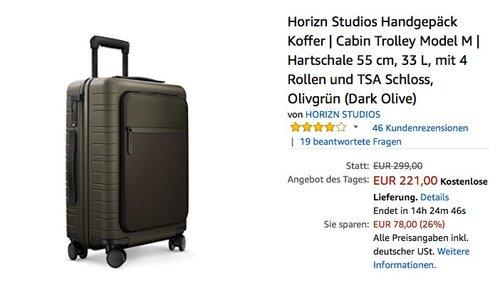 Horizn Studios Handgepäck Koffer Trolley Model M - jetzt 23% billiger