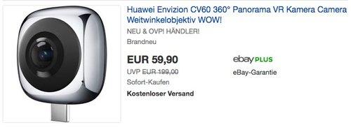 Huawei Envizion CV60 360° Panorama VR Kamera Camera Weitwinkelobjektiv - jetzt 11% billiger