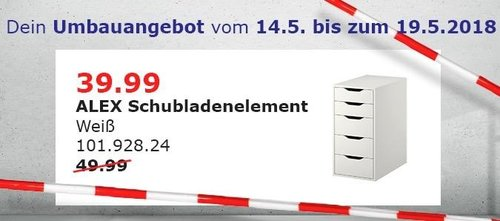 IKEA ALEX Schubladenelement - jetzt 20% billiger