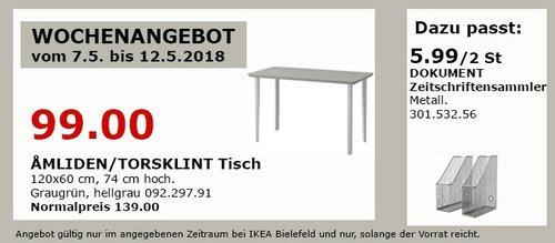 IKEA AMLIDEN/TORSKLINT Tisch - jetzt 29% billiger