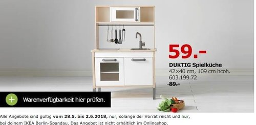 IKEA DUKTIG Spielküche - jetzt 34% billiger