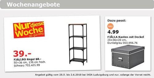 IKEA FJÄLLBO Regal - jetzt 34% billiger