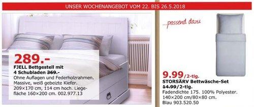IKEA FJELL Bettgestell mit 4 Schubladen - jetzt 22% billiger