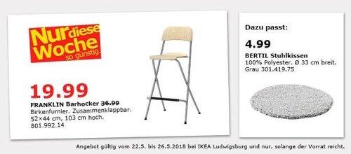 IKEA FRANKLIN Barhocker - jetzt 46% billiger