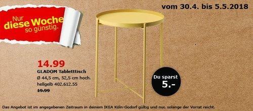 IKEA GLADOM Tabletttisch - jetzt 25% billiger