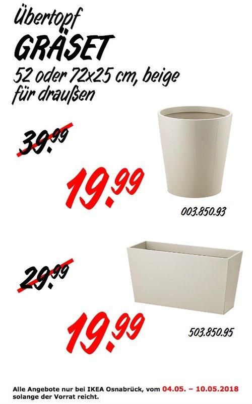 IKEA GRÄSET Übertopf - jetzt 50% billiger