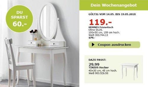 IKEA HEMNES Frisiertisch - jetzt 34% billiger