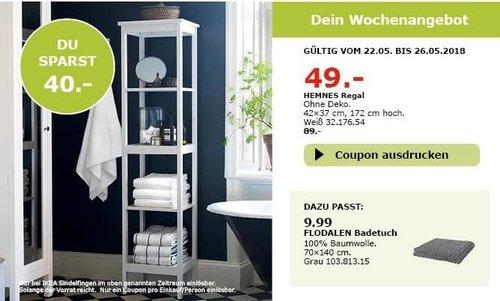 IKEA HEMNES Regal, 42x37 cm, 172 cm hoch - jetzt 45% billiger