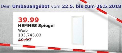 IKEA HEMNES Spiegel - jetzt 20% billiger