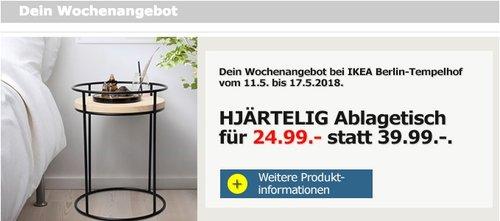 IKEAHJÄRTELIG Ablagetisch - jetzt 38% billiger