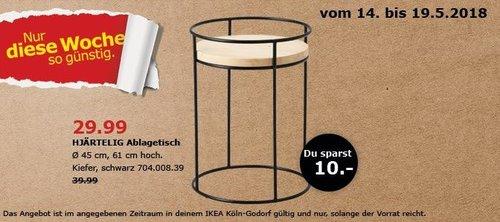 IKEA HJÄRTELIG Ablagetisch - jetzt 25% billiger