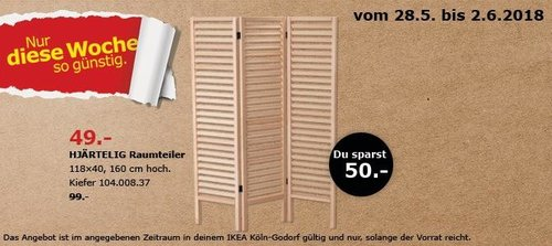 IKEA HJÄRTELIG Raumteiler - jetzt 51% billiger