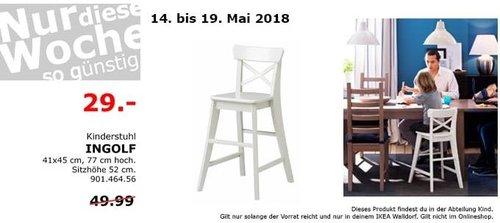 IKEA INGOLF Kinderstuhl weiß - jetzt 42% billiger
