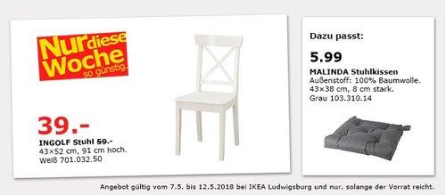 IKEA INGOLF Stuhl - jetzt 34% billiger