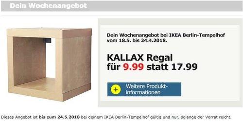 IKEA KALLAX Regal 42x42 cm - jetzt 44% billiger