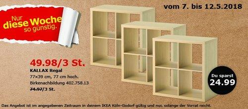 IKEA KALLAX Regal 77x77x39 cm - jetzt 33% billiger