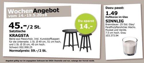 IKEA KRAGSTA Satztische 2 St. - jetzt 24% billiger