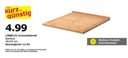 IKEA LÄMPLIG Schneidebrett, Bambus - jetzt 62% billiger