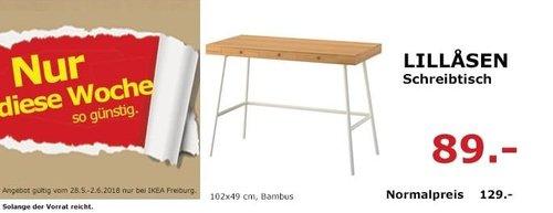 IKEA LILLASEN Schreibtisch, 102x49 cm - jetzt 31% billiger