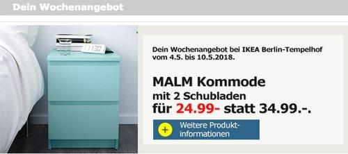 IKEA MALM Kommode mit 2 Schubladen - jetzt 29% billiger