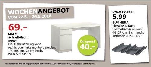 IKEA MALM Schreibtisch - jetzt 37% billiger