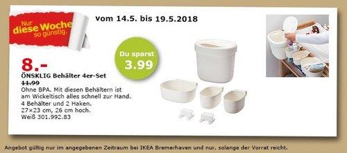IKEA ÖNSKLIG Behälter 4er-Set - jetzt 33% billiger
