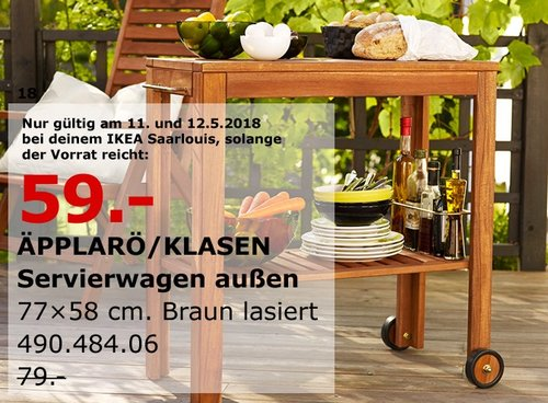 IKEA ÄPPLARÖ/KLASEN Servierwagen außen - jetzt 25% billiger