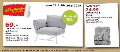 IKEA PS 2017 Ecksessel mit Polster - jetzt 59% billiger