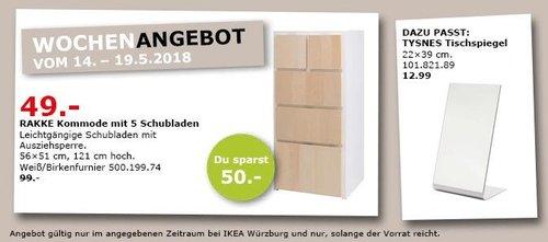 IKEA RAKKE Kommode mit 5 Schubladen - jetzt 51% billiger