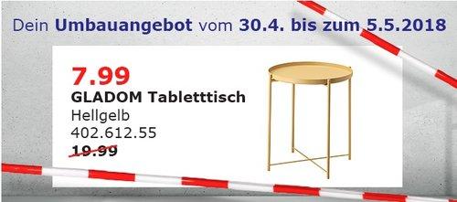 IKEA Regensburg GLADOM Tabletttisch - jetzt 60% billiger