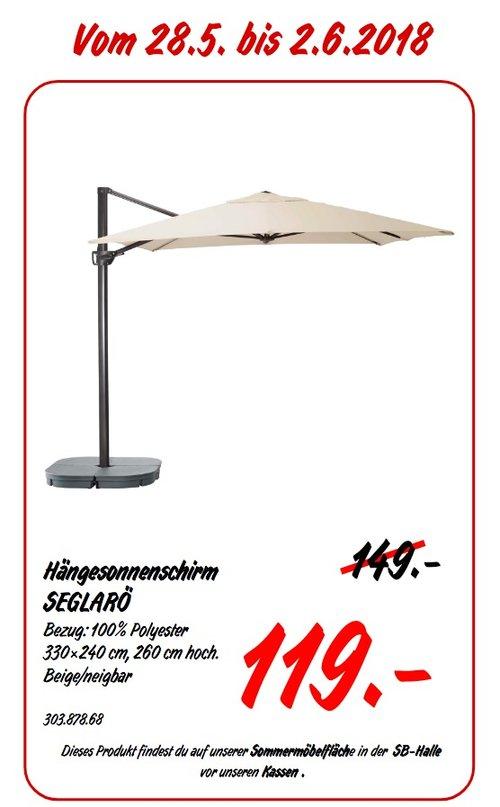 IKEA SEGLAR Hängesonnenschirm, 330x240 cm - jetzt 20% billiger