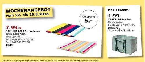 IKEA SOMMAR 2018 Strandlaken - jetzt 38% billiger