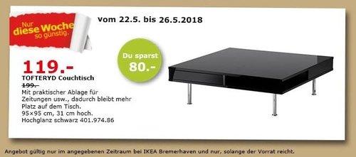 IKEA TOFTERYD Couchtisch - jetzt 40% billiger