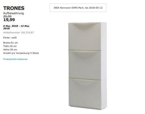 IKEA TRONES Aufbewahrung - jetzt 33% billiger
