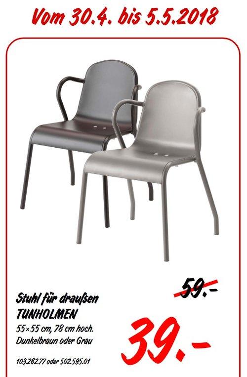 IKEA TUNHOLMEN Stuhl für draußen - jetzt 34% billiger