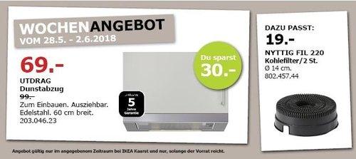 IKEA UTDRAG Dunstabzug - jetzt 30% billiger