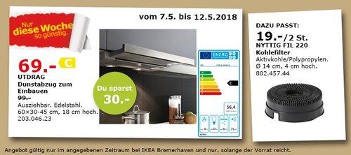 IKEA UTDRAG Dunstabzug zum Einbauen - jetzt 30% billiger