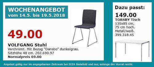 IKEA VOLFGANG Stuhl - jetzt 29% billiger