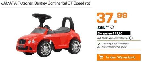 JAMARA Rutscher Bentley Continental GT Speed rot - jetzt 10% billiger