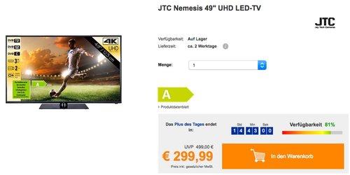 """JTC Nemesis 49"""" UHD LED-TV - jetzt 25% billiger"""