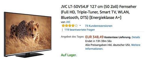 JVC LT-50V54JF 127 cm (50 Zoll) Fernseher (Full HD, Triple-Tuner, Smart TV, WLAN, Bluetooth, DTS) - jetzt 12% billiger