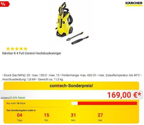 Kärcher K 4 Full Control Hochdruckreiniger - jetzt 12% billiger