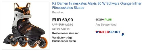 K2 Damen Inline Skate Alexis 80 - jetzt 15% billiger