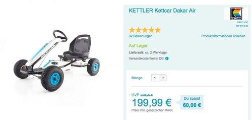 KETTLER Kettcar Dakar Air blau - jetzt 9% billiger