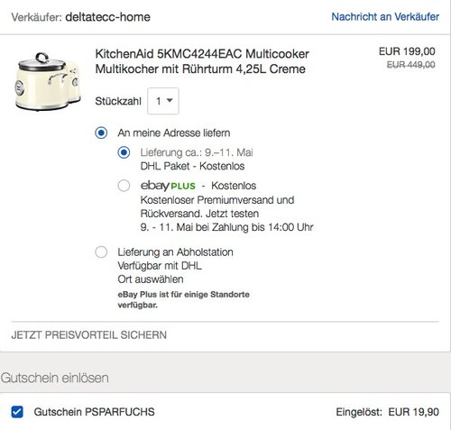 KitchenAid 5KMC4244EAC Multicooker Multikocher - jetzt 46% billiger